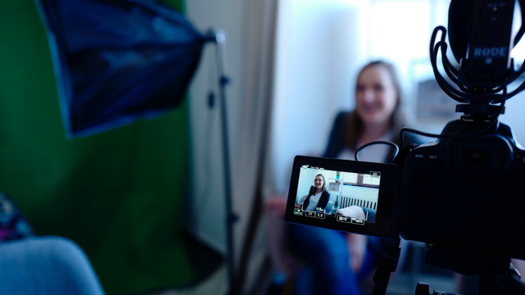 candidate making a video, photo by cowomen from pexels