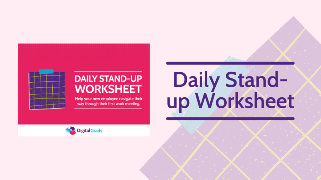Daily stand up worksheet featured image