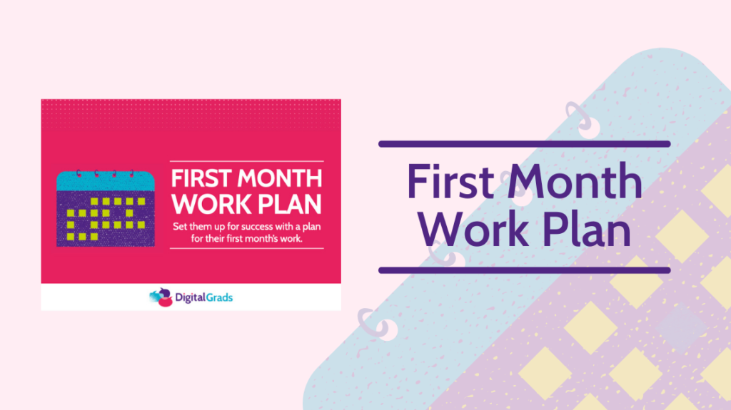 First month work plan featured image