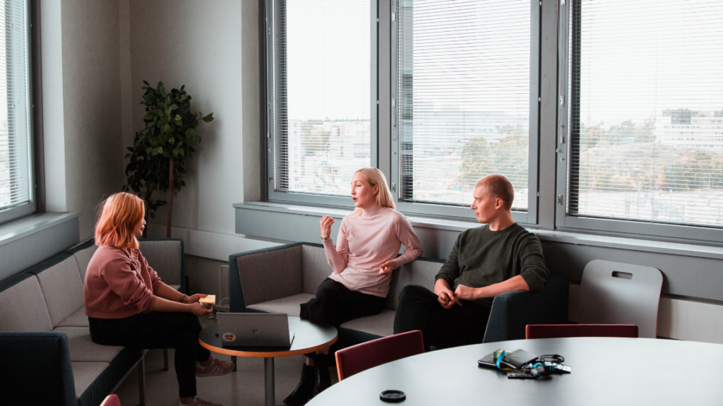 Three people having a meeting. How to learn from a bad hire by TienDat Nguyen on Unsplash