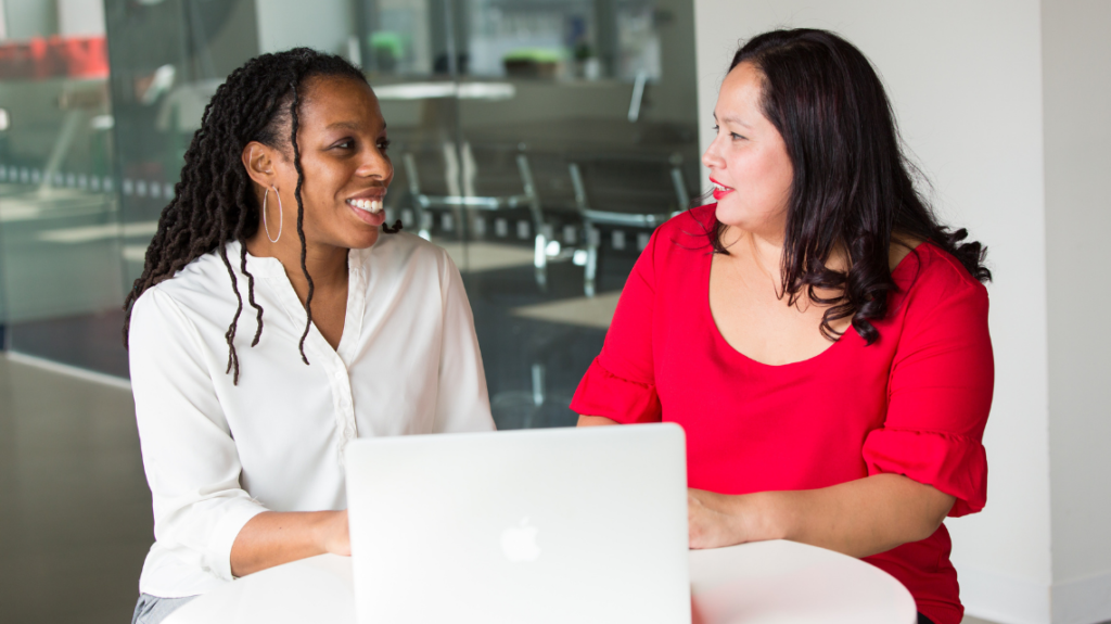 Being an ally in your hiring - small business owner with applicant by Christina Morillo from Pexels