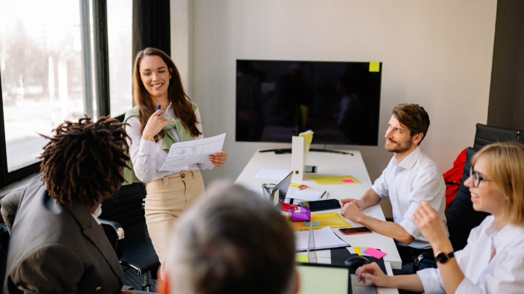 a group of employees having fun together after having prevented burnout and boreout. photo by yan krukov from pexels